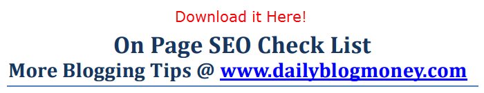 seo check list
